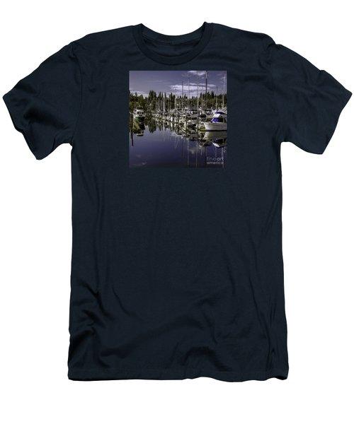Men's T-Shirt (Slim Fit) featuring the photograph Sky Reach by Jean OKeeffe Macro Abundance Art