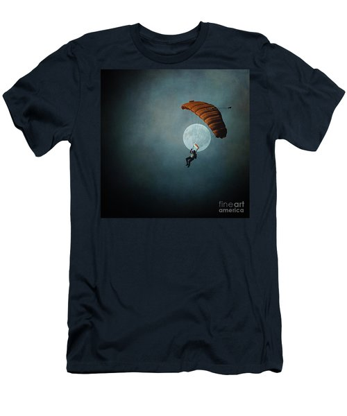Skydiver's Moon Men's T-Shirt (Athletic Fit)