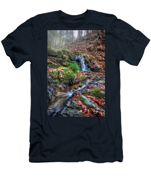 Small Fog Waterfall Men's T-Shirt (Athletic Fit)