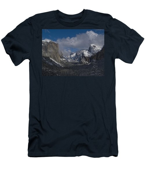 Snow Kissed Valley Men's T-Shirt (Slim Fit) by Bill Gallagher