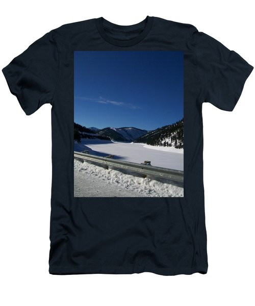 Men's T-Shirt (Slim Fit) featuring the photograph Snow Lake by Jewel Hengen