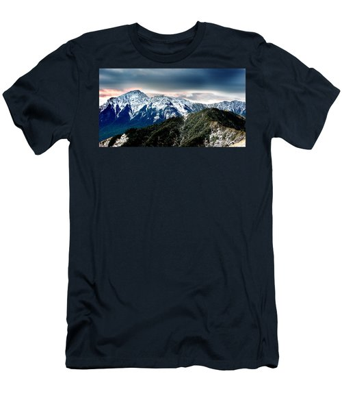 Men's T-Shirt (Slim Fit) featuring the photograph Snow Mountain by Yew Kwang