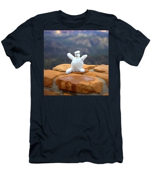 Snowman At Bryce - Square Men's T-Shirt (Slim Fit) by Gordon Elwell