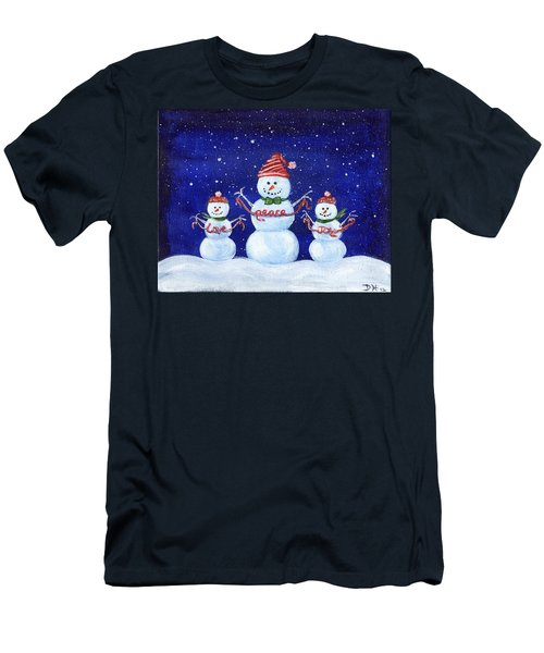 Snowmen Men's T-Shirt (Athletic Fit)