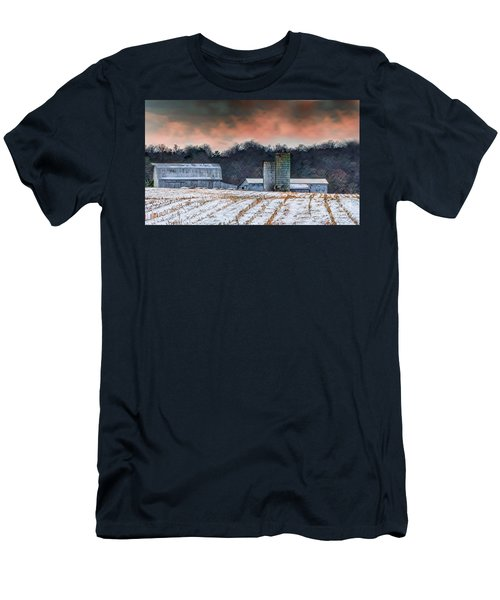Snowy Cornfield Men's T-Shirt (Athletic Fit)