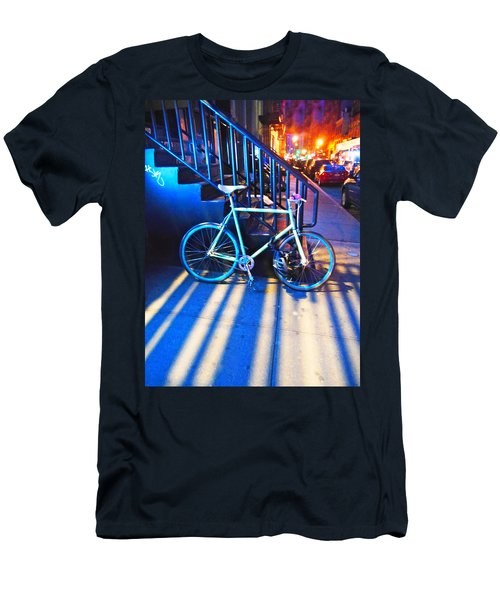 Men's T-Shirt (Slim Fit) featuring the photograph Soho Bicycle  by Joan Reese