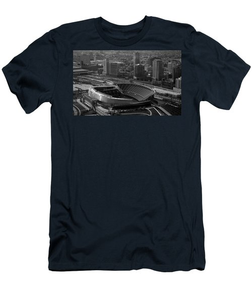 Soldier Field Chicago Sports 05 Black And White Men's T-Shirt (Slim Fit) by Thomas Woolworth