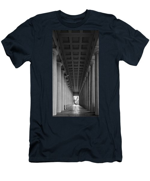 Soldier Field Colonnade Chicago B W B W Men's T-Shirt (Athletic Fit)