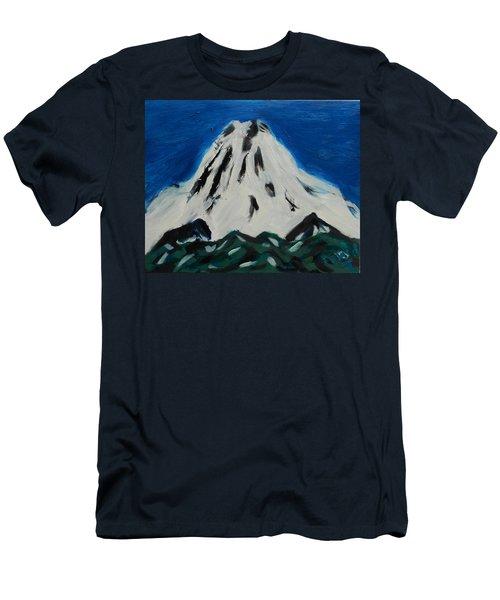 Somewhere Rainier Men's T-Shirt (Slim Fit) by David Trotter