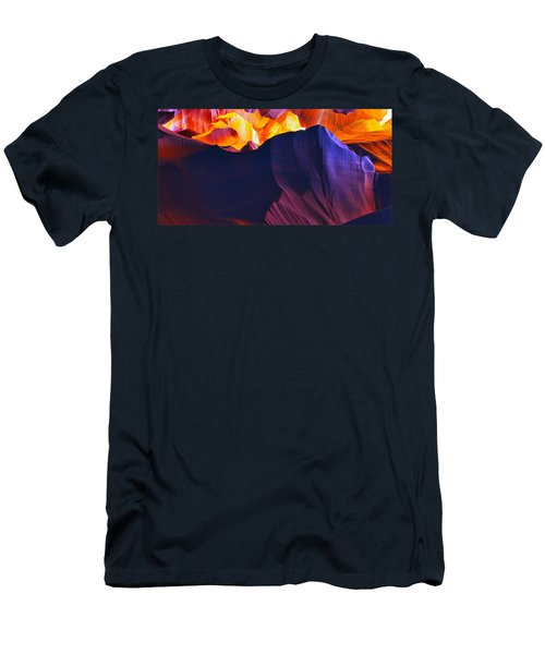 Men's T-Shirt (Slim Fit) featuring the photograph Somewhere In America Series - Antelope Canyon by Lilia D