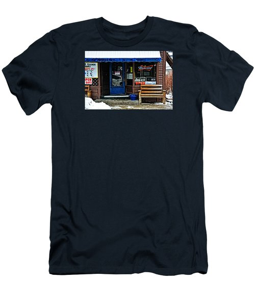 Sorry We're Open Men's T-Shirt (Slim Fit) by Mike Martin