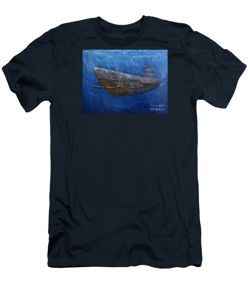 Men's T-Shirt (Slim Fit) featuring the painting Soul Hunter by Arturas Slapsys