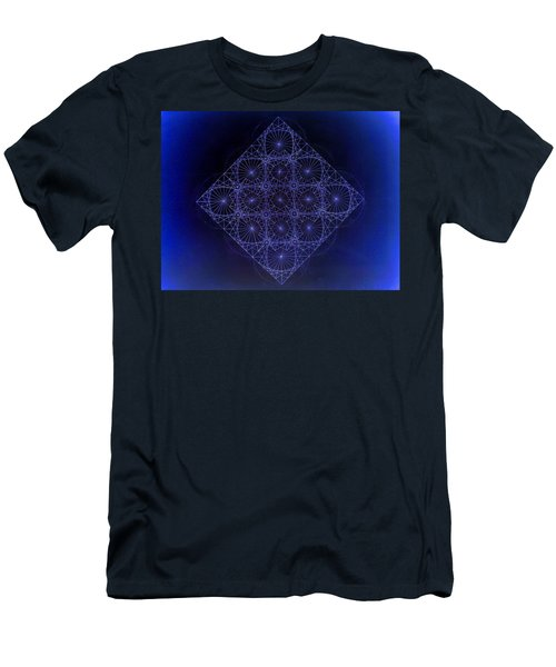 Space Time Sine Cosine And Tangent Waves Men's T-Shirt (Athletic Fit)