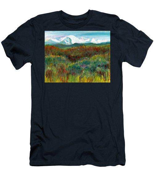 Spanish Peaks Evening Men's T-Shirt (Slim Fit) by C Sitton