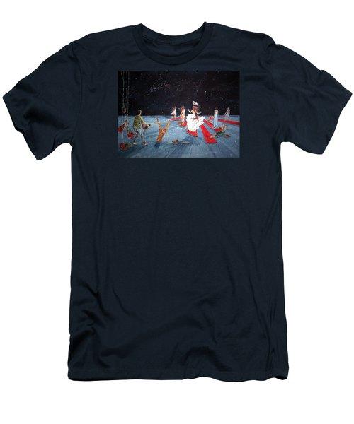 Spontaneous Gallantry Men's T-Shirt (Slim Fit) by Lazaro Hurtado