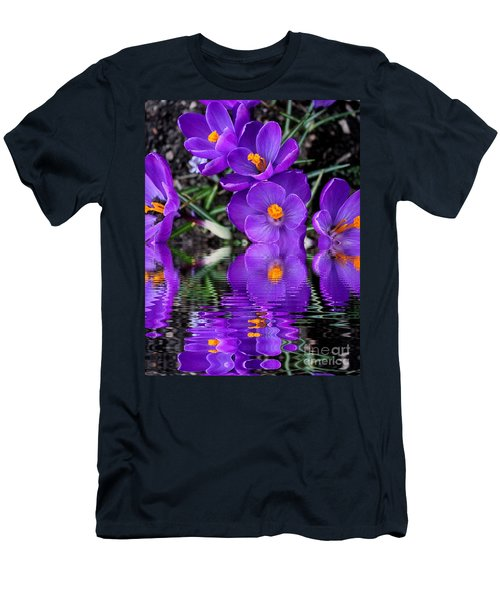 Men's T-Shirt (Slim Fit) featuring the photograph Spring Reflection by Judy Palkimas