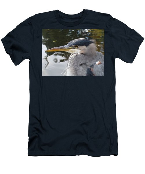 Men's T-Shirt (Slim Fit) featuring the photograph Sr Heron  by Cheryl Hoyle