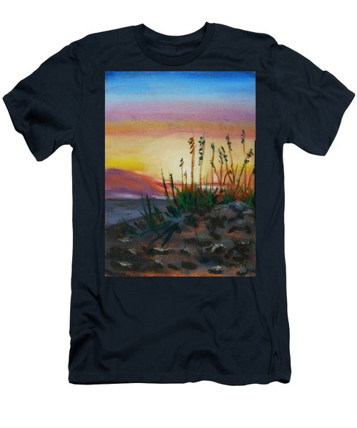 Beach At Sunrise Men's T-Shirt (Athletic Fit)