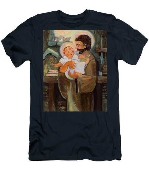 St. Joseph And Baby Jesus Men's T-Shirt (Athletic Fit)