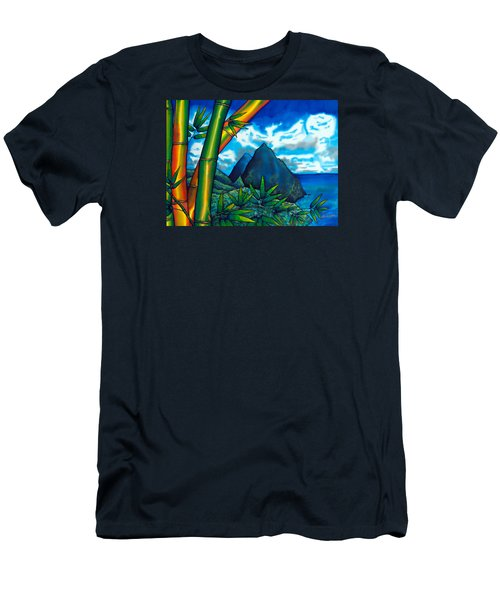 St. Lucia Pitons Men's T-Shirt (Athletic Fit)