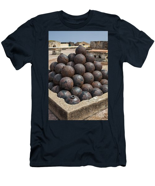 Stack Of Cannon Balls At Castillo San Felipe Del Morro Men's T-Shirt (Athletic Fit)