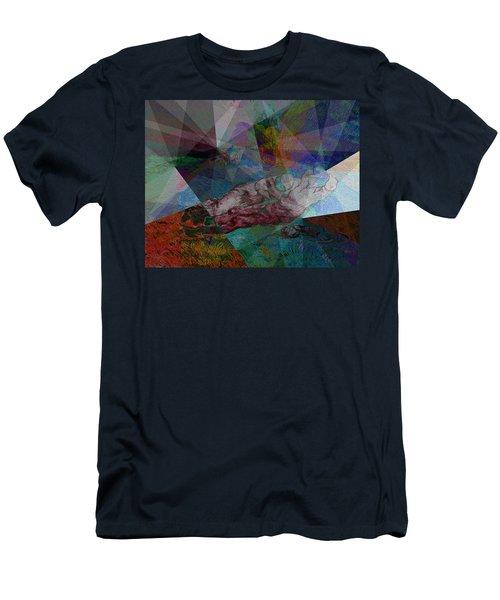 Stain Glass I Men's T-Shirt (Slim Fit) by David Bridburg