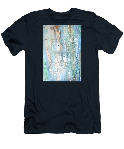 Men's T-Shirt (Slim Fit) featuring the painting Stained Cracks by Rebecca Davis