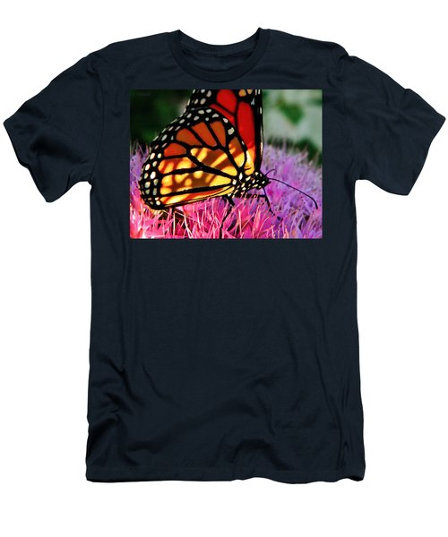 Stained Glass Monarch  Men's T-Shirt (Athletic Fit)