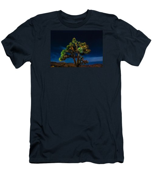 Standing Men's T-Shirt (Slim Fit) by Angela J Wright
