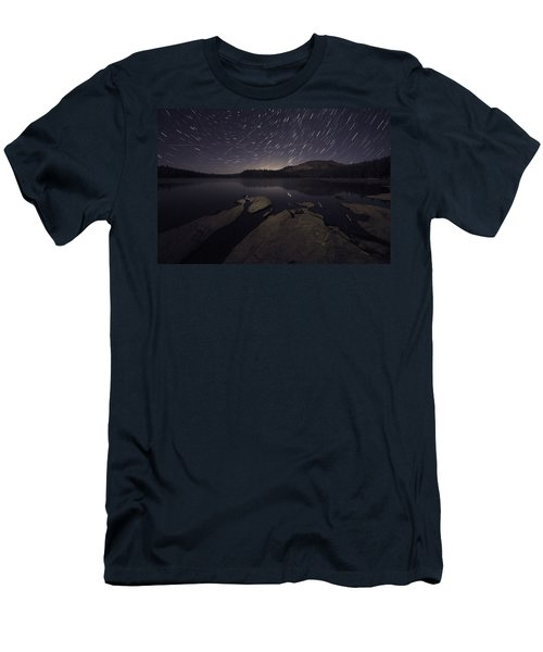 Star Trails Over Silver Lake Resort Men's T-Shirt (Athletic Fit)