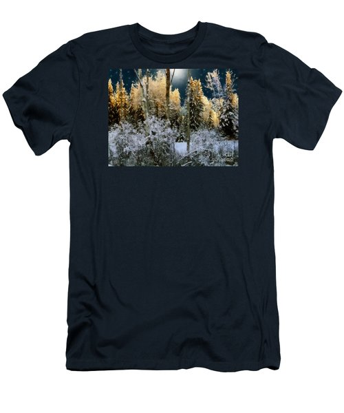 Starshine On A Snowy Wood Men's T-Shirt (Slim Fit) by RC deWinter