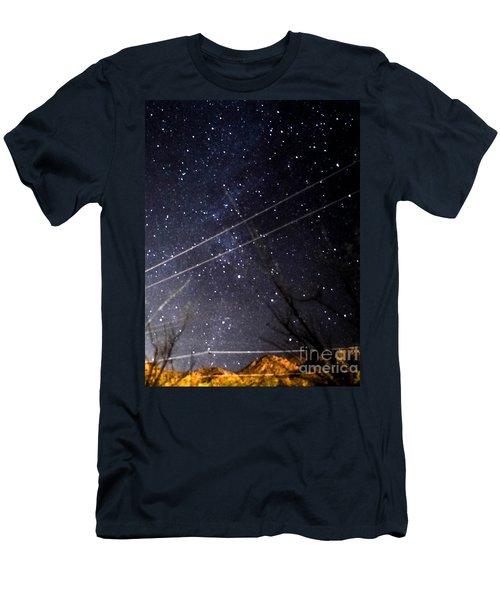 Stars Drunk On Lightpaint Men's T-Shirt (Slim Fit) by Angela J Wright