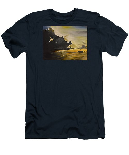 Staying Ahead Of The Storm Men's T-Shirt (Slim Fit) by Donna Blossom