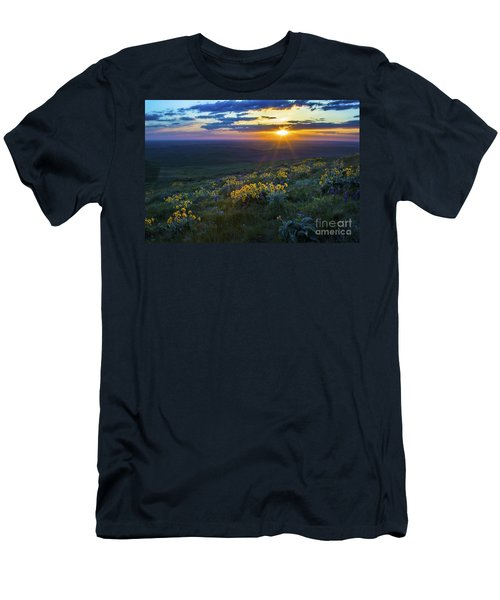 Steptoe Sunset Men's T-Shirt (Slim Fit) by Sonya Lang