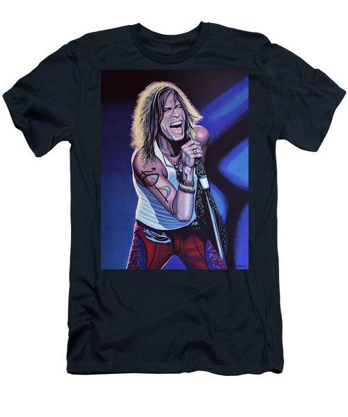 Steven Tyler 3 Men's T-Shirt (Slim Fit) by Paul Meijering