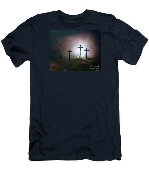 Men's T-Shirt (Slim Fit) featuring the painting Still The Light by Eloise Schneider