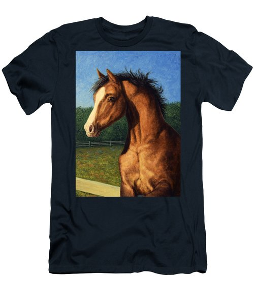 Men's T-Shirt (Slim Fit) featuring the painting Stir Crazy by James W Johnson