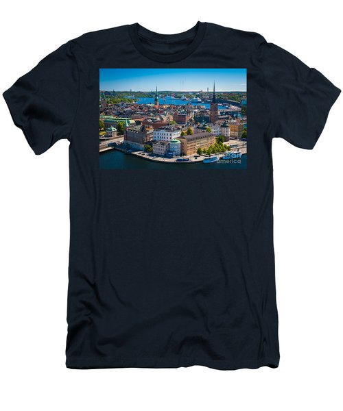 Stockholm From Above Men's T-Shirt (Athletic Fit)