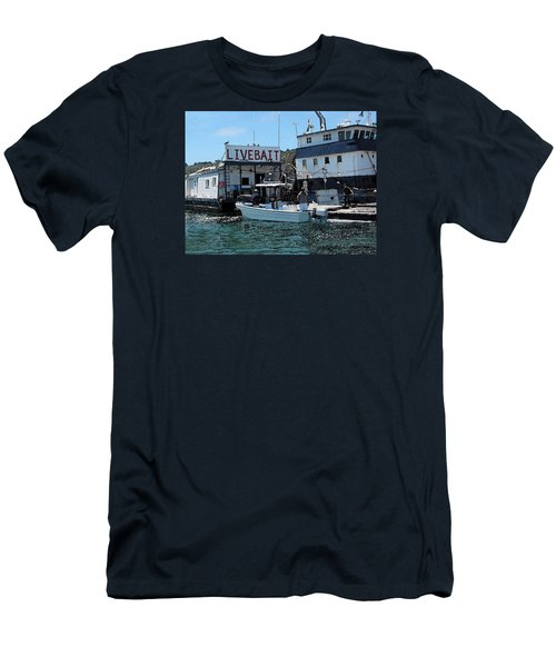 Stocking Up On Live Bait Men's T-Shirt (Slim Fit) by Cedric Hampton
