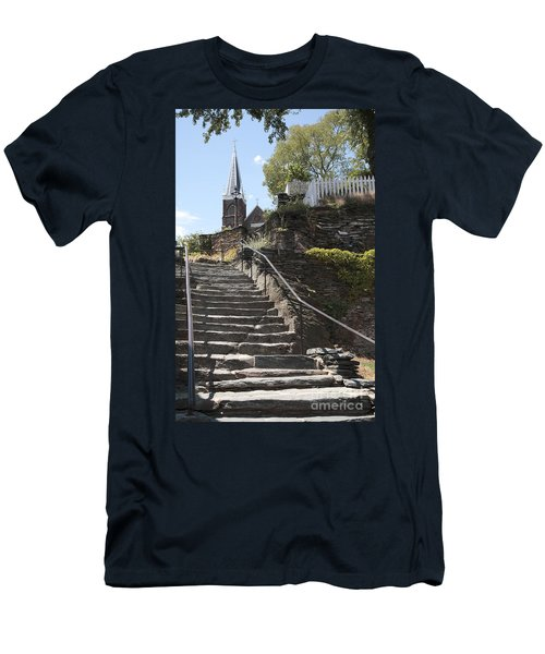 Stone Steps And Saint Peters Church At Harpers Ferry Men's T-Shirt (Athletic Fit)