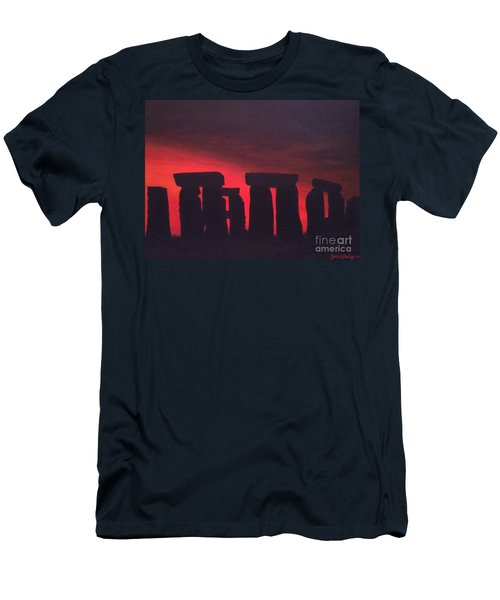 Stonehenge At Dusk Men's T-Shirt (Athletic Fit)