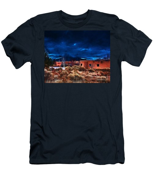 Storm Over Taos Lx - Homage Okeeffe Men's T-Shirt (Athletic Fit)