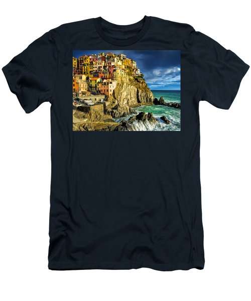 Stormy Day In Manarola - Cinque Terre Men's T-Shirt (Athletic Fit)