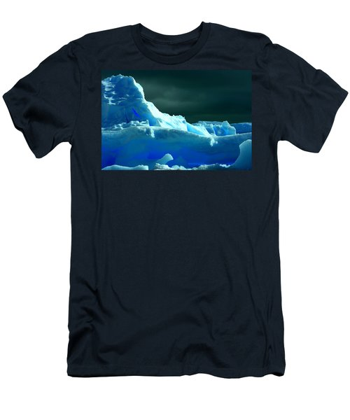 Men's T-Shirt (Slim Fit) featuring the photograph Stormy Icebergs by Amanda Stadther