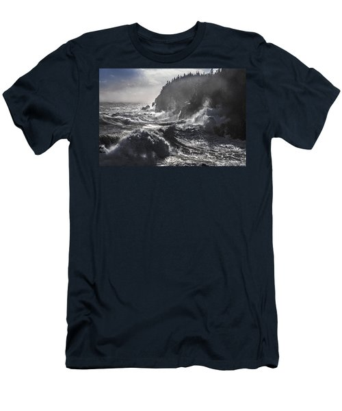 Stormy Seas At Gulliver's Hole Men's T-Shirt (Athletic Fit)
