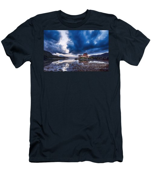 Stormy Skies Over Eilean Donan Castle Men's T-Shirt (Athletic Fit)