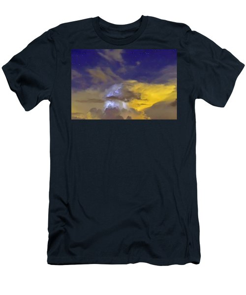 Men's T-Shirt (Slim Fit) featuring the photograph Stormy Stormy Night by Charlotte Schafer