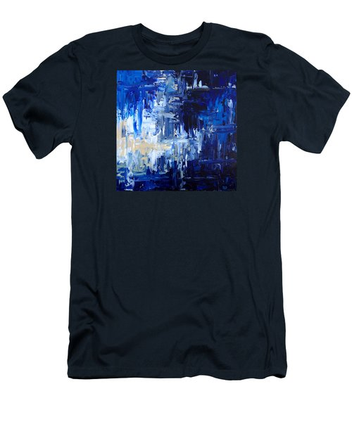 Stormy Waves Men's T-Shirt (Slim Fit) by Rebecca Davis
