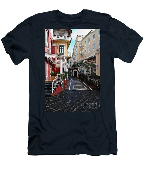 Street Of Capri Men's T-Shirt (Athletic Fit)