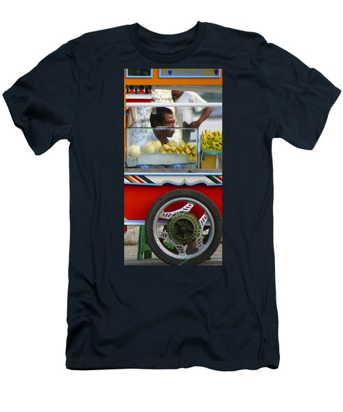Street Seller Offering Fresh Fruit Yangon Myanmar Men's T-Shirt (Athletic Fit)